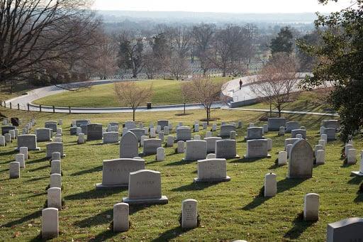 Gravestones in Arlington Cemetery