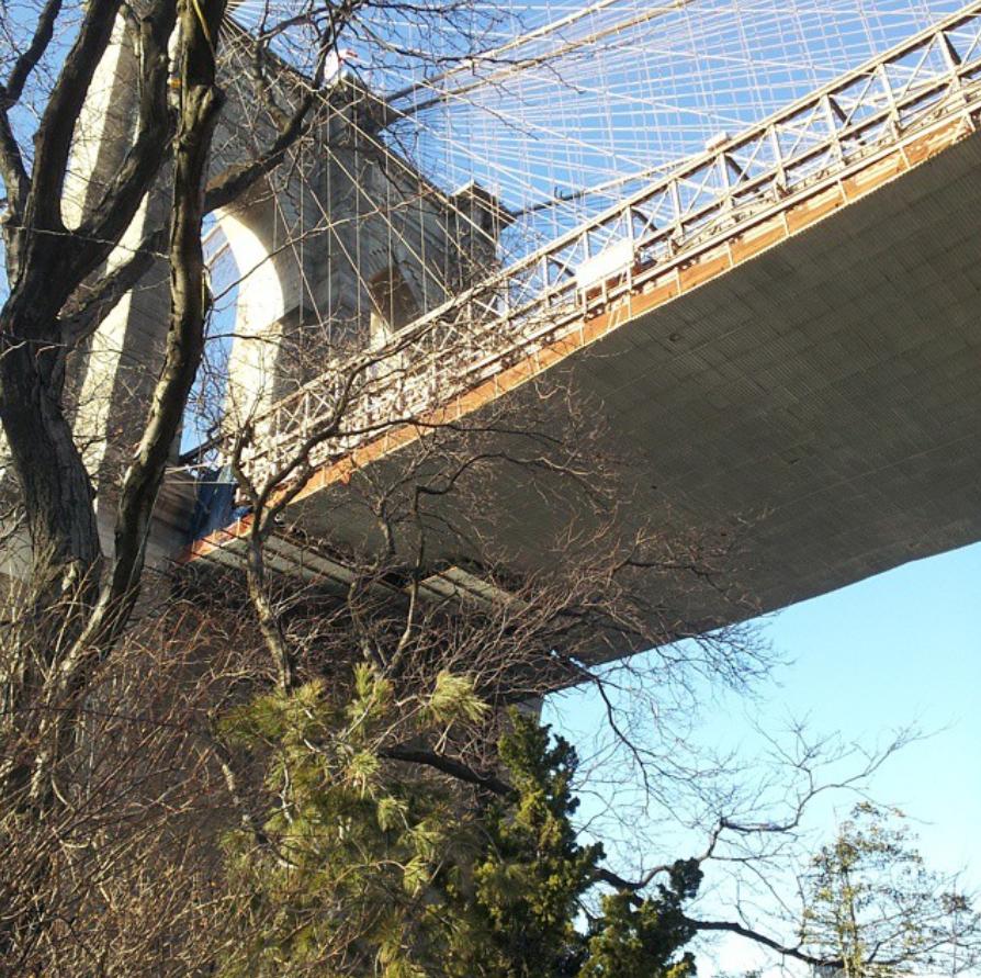 Brooklyn Bridge seen from below