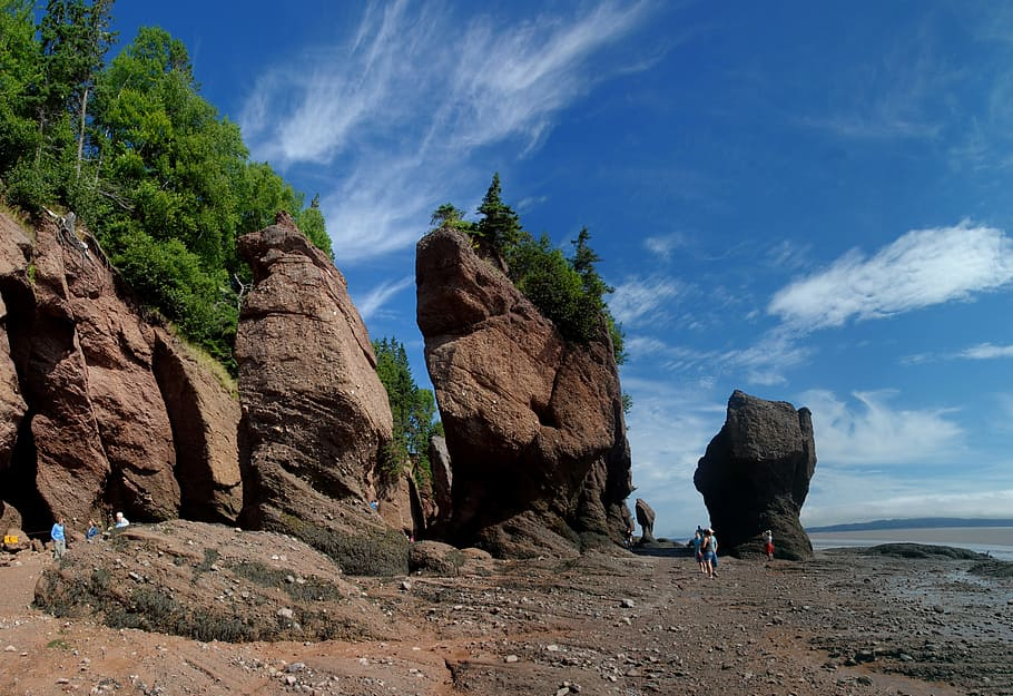 View on Hopewell Rocks in New Brunswick