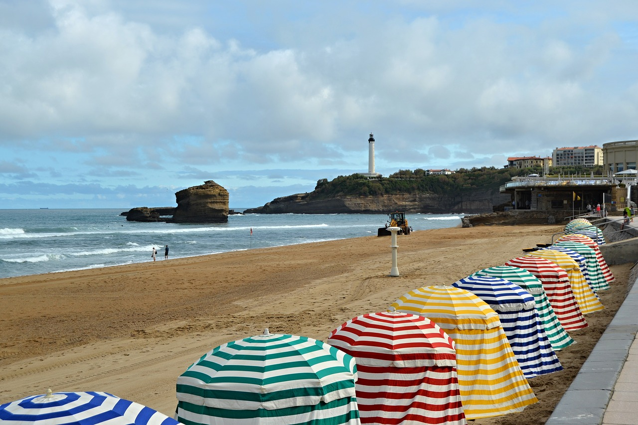 View on the beach in Biarritz