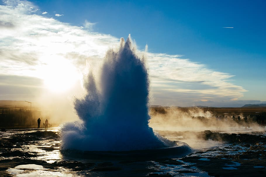 Geyser of Greyfoss in Iceland