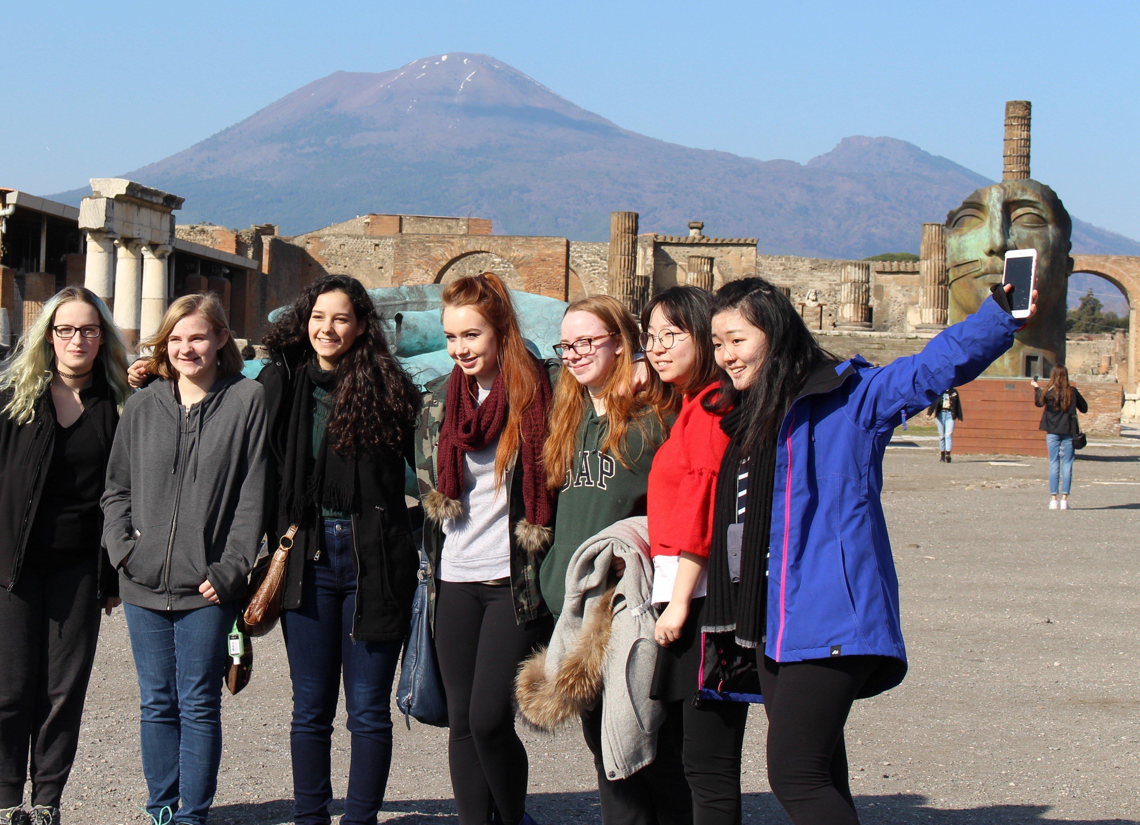 Students in Pompeii