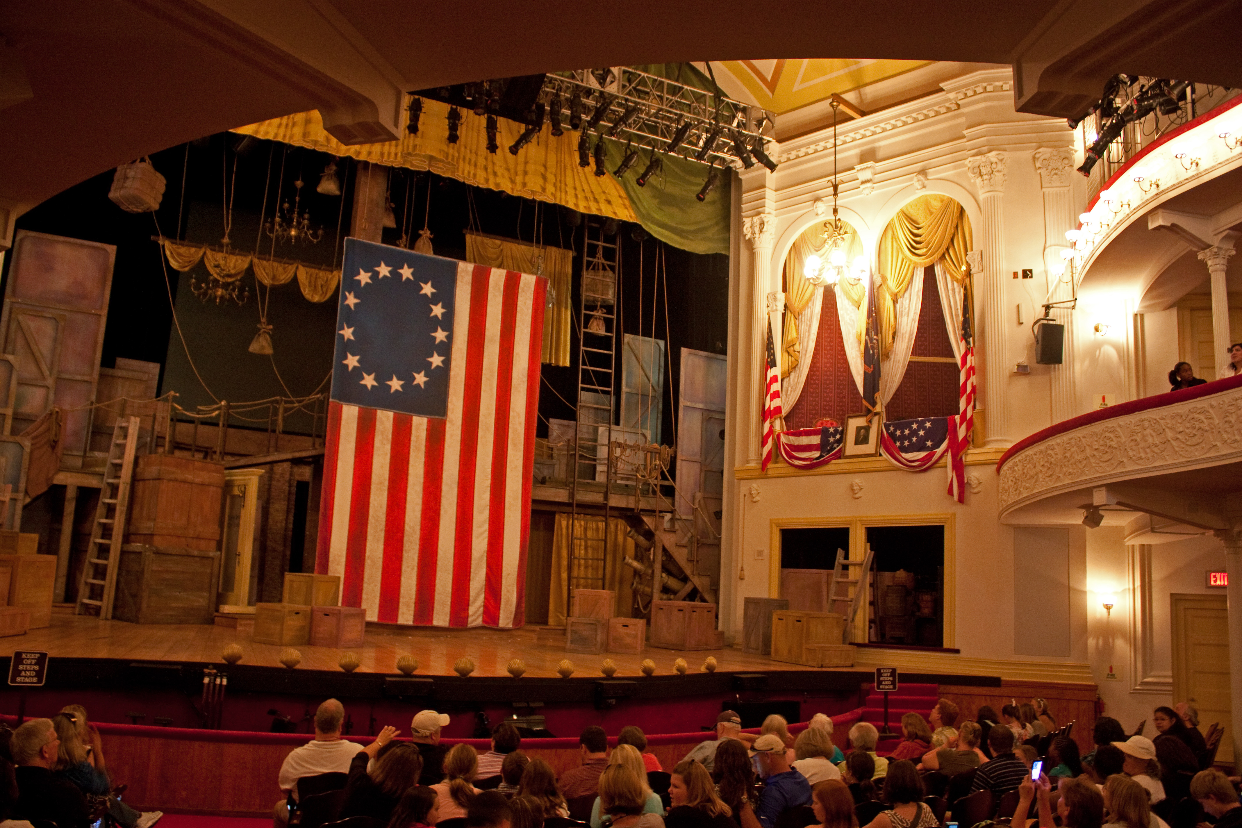 Inside of Ford's Theatre in Washington