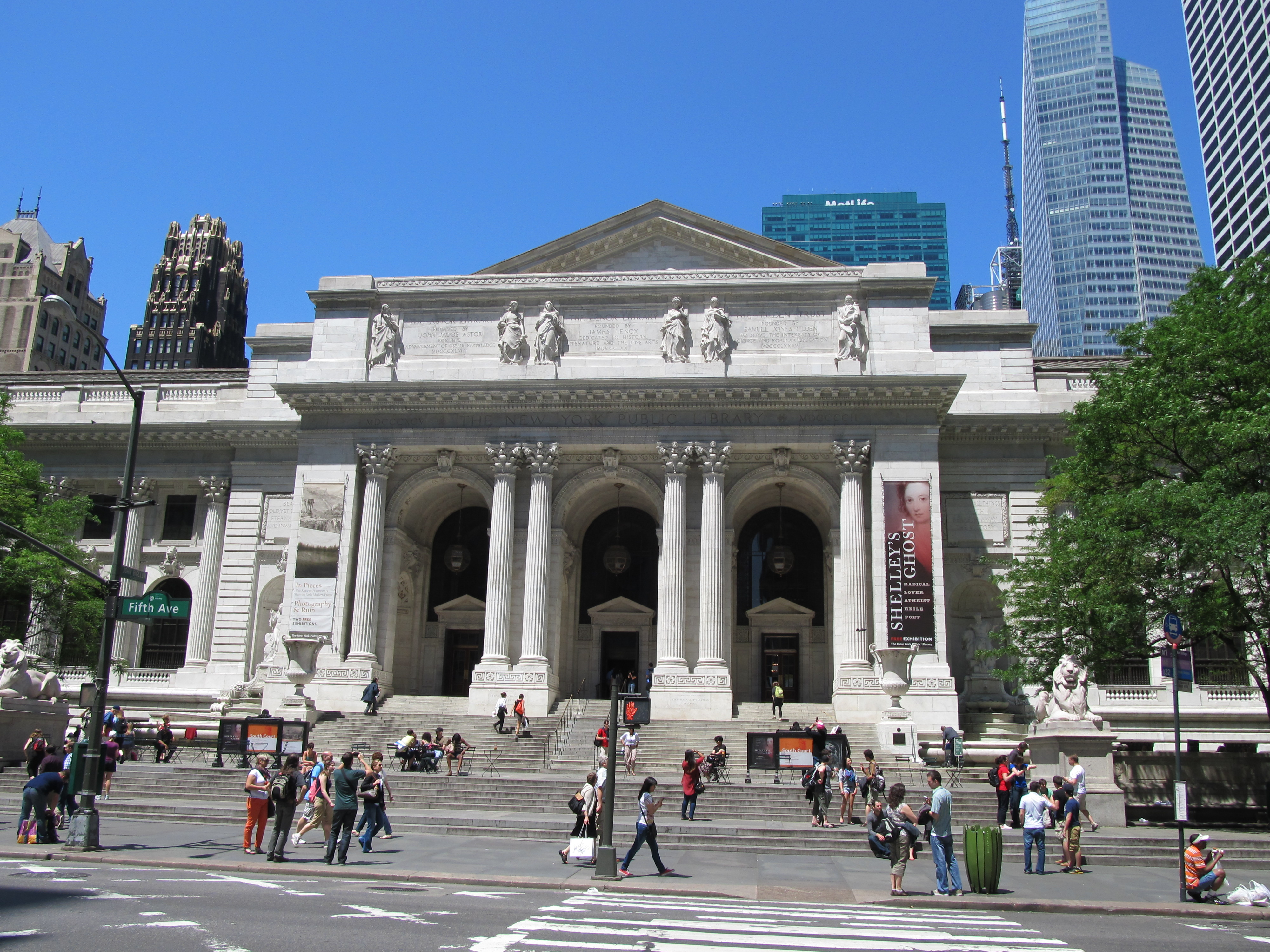 Entrance of the New-York Public Library