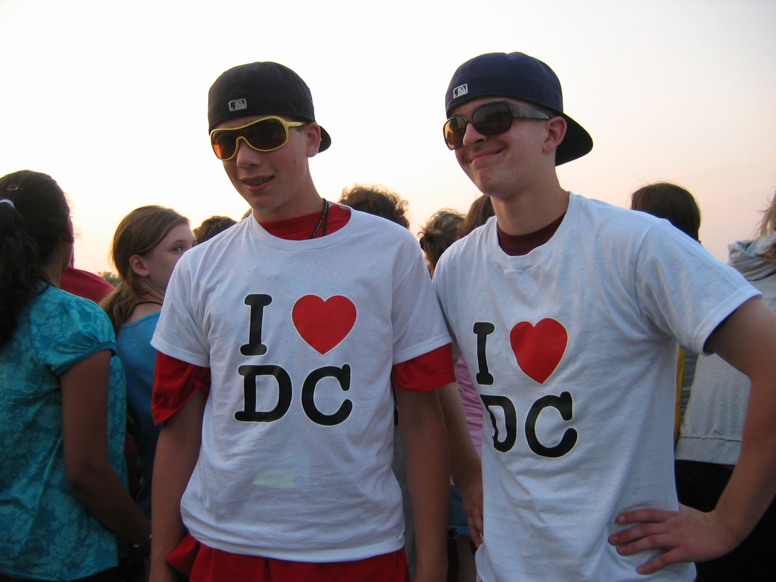 Students wearing I love DC t-shirts
