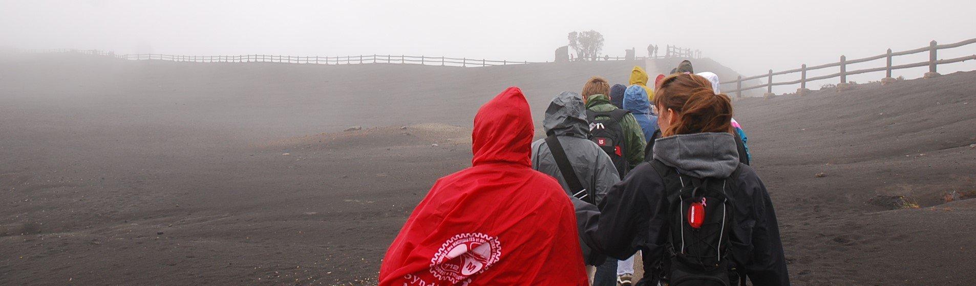 Students exploring a Volcano in Costa Rica