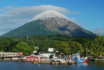 Nicaragua's Conception volcano on Ometepe Island