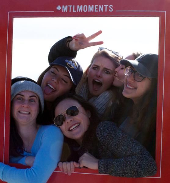Students enjoying Montreal