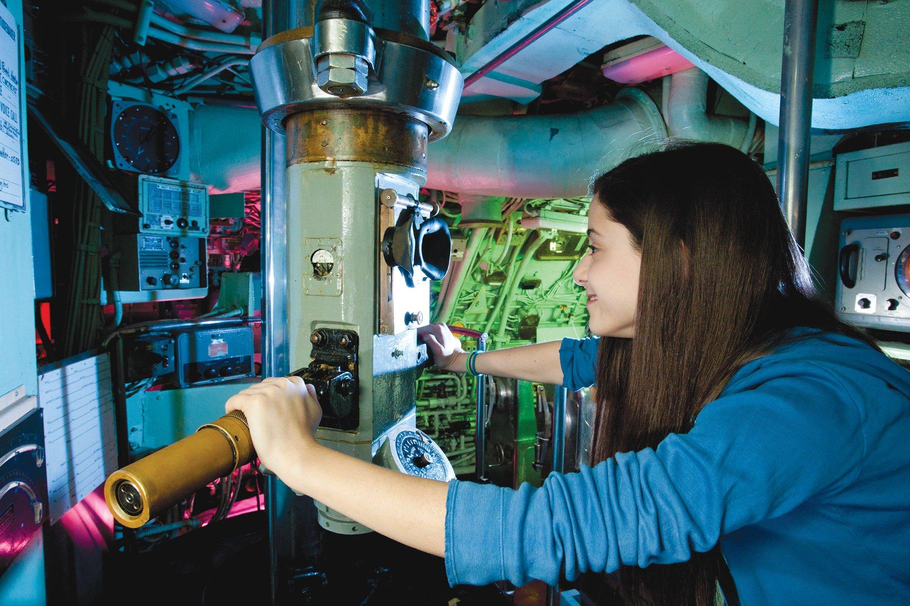 Student at Intrepid Sea, Air & Space Museum