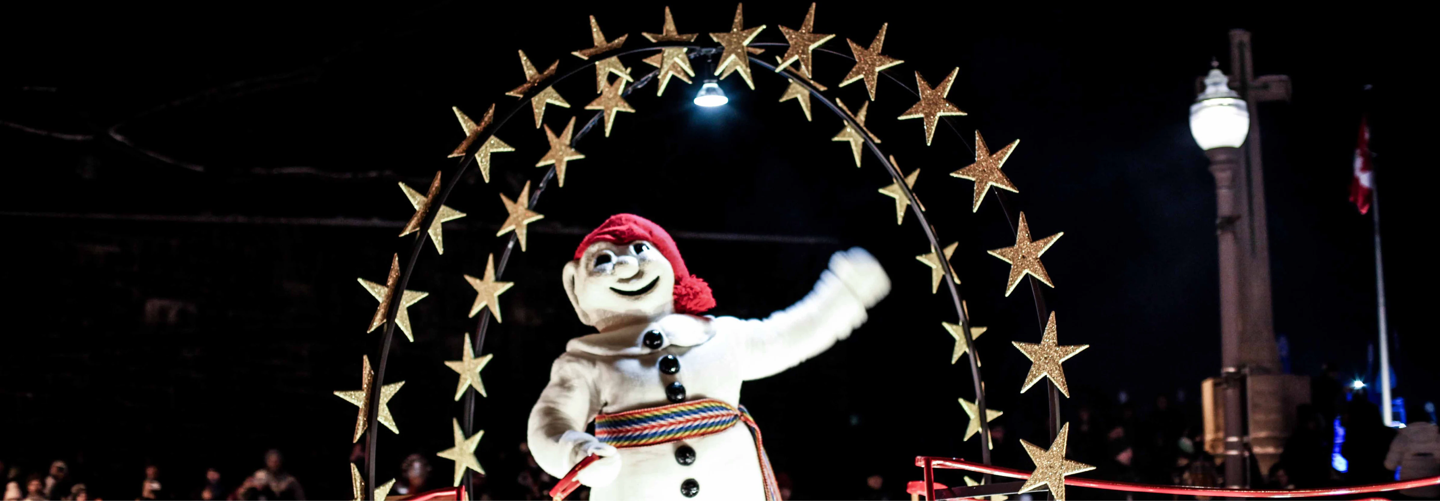 Bonhomme during the parade.