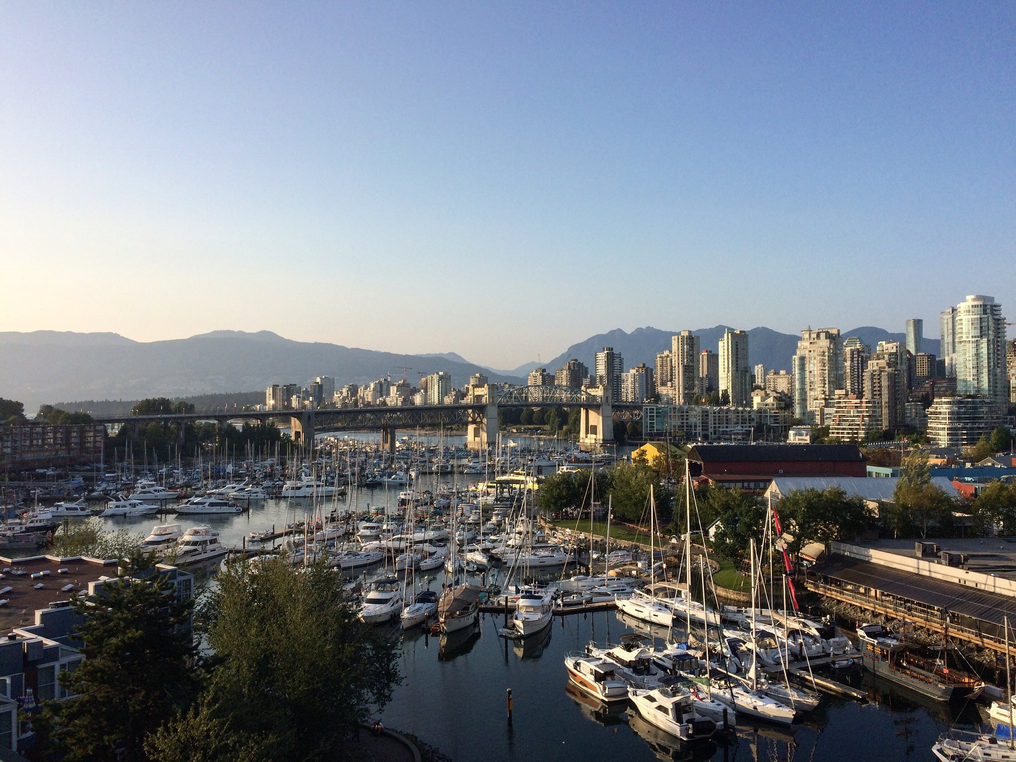 Vancouver from above Granville Island